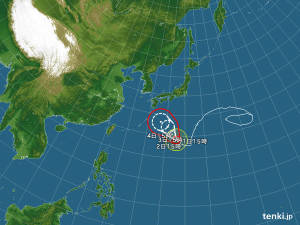 注目の台風5号