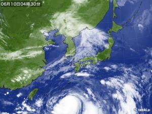 台風5号迫る