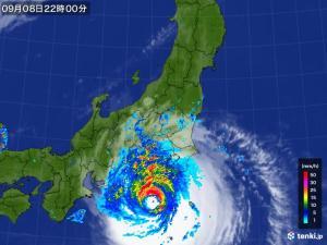 久々の東京直撃コースに乗っている台風15号ファクサイの画像(その2)