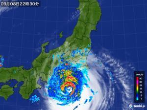 久々の東京直撃コースに乗っている台風15号ファクサイの画像(その3)