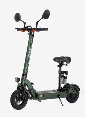 立ち乗り「できる」電動スクーター発売(予定)なれども座り心地よさそうなシートに目が釘付け